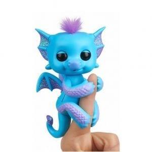 טרה – בובת דרקון אצבע כחולה – פינגרלינגס