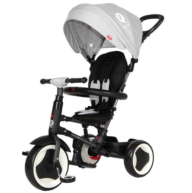 תלת אופן מתקפל לתינוקות מתקפל QPLAY RITO אפור