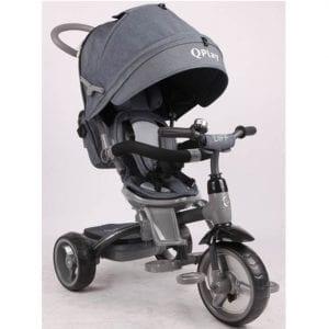תלת אופן לתינוקות QPLAY DIFF אפור