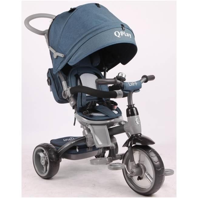 תלת אופן לתינוקות QPLAY DIFF כחול