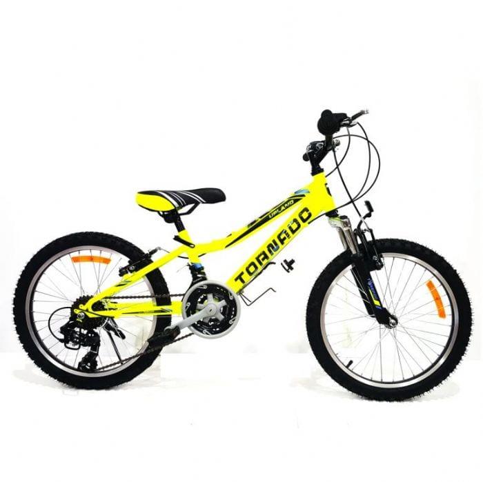 אופני הרים לילדים ונוער – טורנדו M2 צהוב זוהר