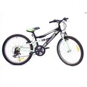 אופני הרים לילדים ונוער – טורנדו שיכוך מלא שחור M4
