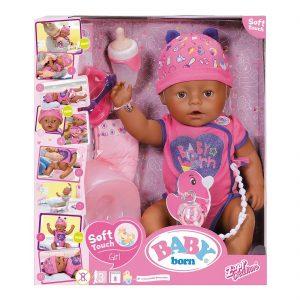בייבי בורן אתנית נגיעה רכה – בובת תינוק עושה פיפי ובוכה