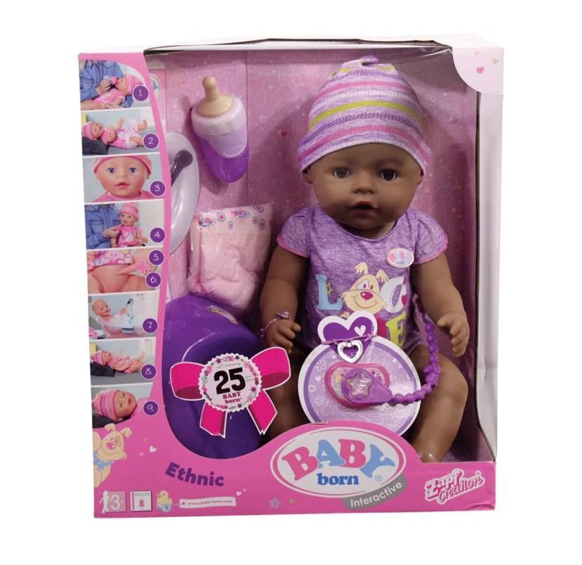 בייבי בורן אתנית – בובת תינוק עושה פיפי ובוכה