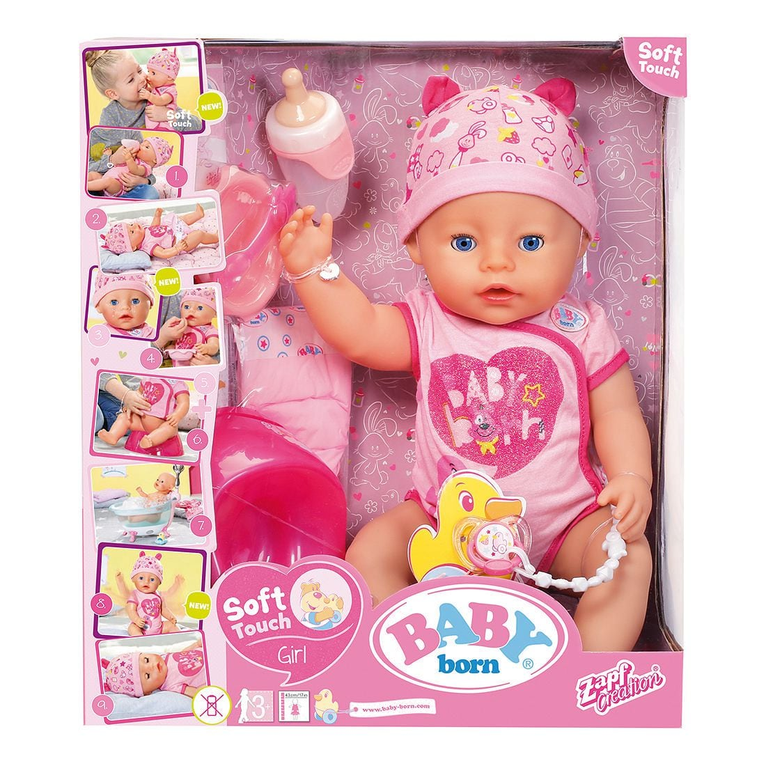 בייבי בורן בת נגיעה רכה – בובת תינוק עושה פיפי ובוכה