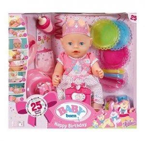 בייבי בורן יומהולדת – בובת תינוק עושה פיפי ובוכה