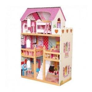 בית בובות בינוני מעץ לילדים