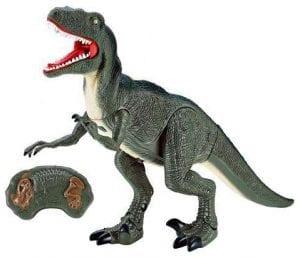 דינוזאור ולוסירפטור ענק על שלט