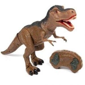 דינוזאור טי-רקס ענק על שלט