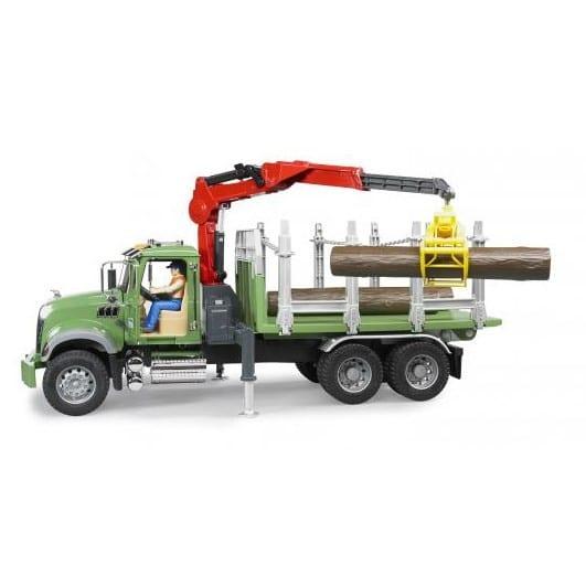 משאית בולי עץ MACK 02824 – BRUDER