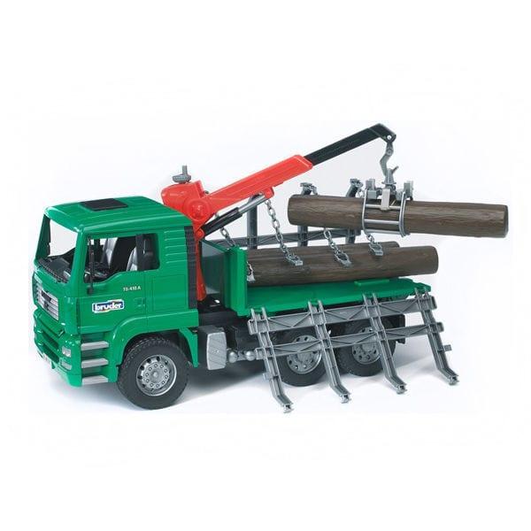 """משאית בולי עץ """"MAN"""" – BRUDER"""