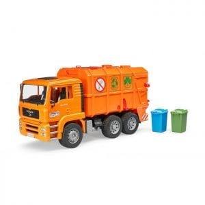 משאית זבל MAN כתומה 2760 – BRUDER