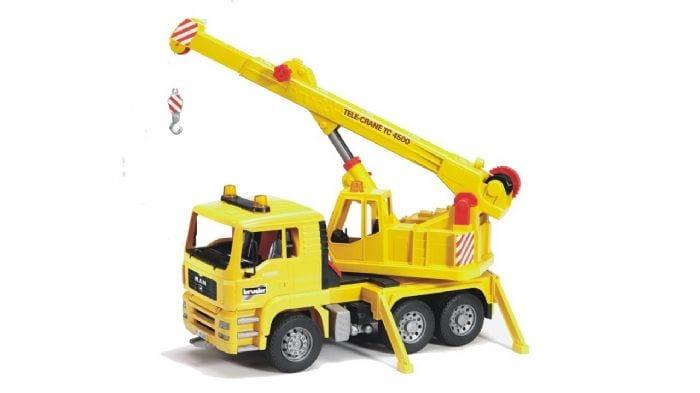 """משאית מנוף """"MAN"""" – BRUDER"""
