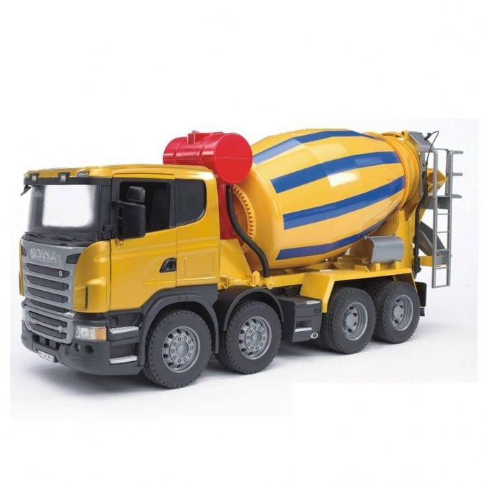 """משאית """"סקניה"""" מערבל בטון – BRUDER"""