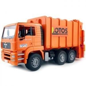 משאית MAN זבל כתום – BRUDER