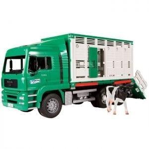 משאית MAN מוביל חיות+פרה 02749 – BRUDER