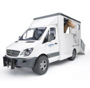 ספרינטר מרצדס מוביל חיות + סוס – BRUDER