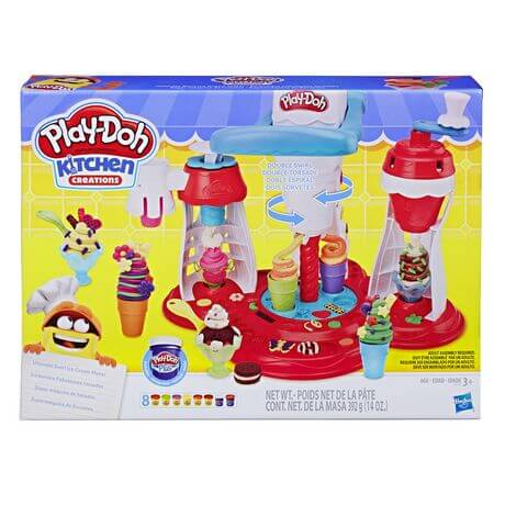 פליידו מכונת גלידה ענקית + 8 בצקים