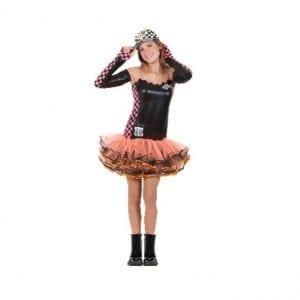 תחפושת נהגת מירוצים חצאית טוטו נוער