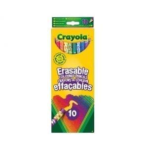 10 עפרונות צבעוניים עם מחק