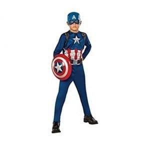 תחפושת קפטן אמריקה מפואר כולל מגן
