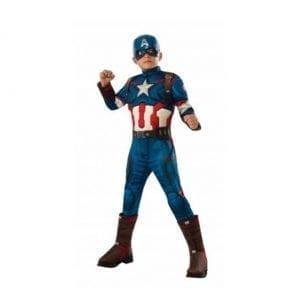 תחפושת קפטן אמריקה שרירי ומהודר לבנים