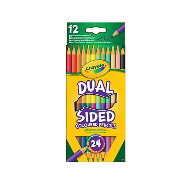 12 עפרונות דו צדדים – 24 גוונים