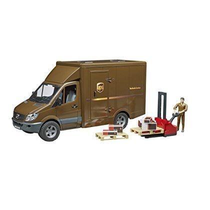 משאית UPS עובד + אביזרים – BRUDER