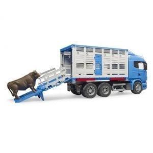 משאית להובלת חיות + פרה – BRUDER