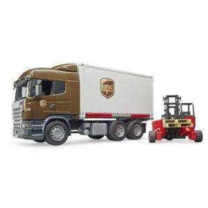 משאית UPS + מלגזה – BRUDER
