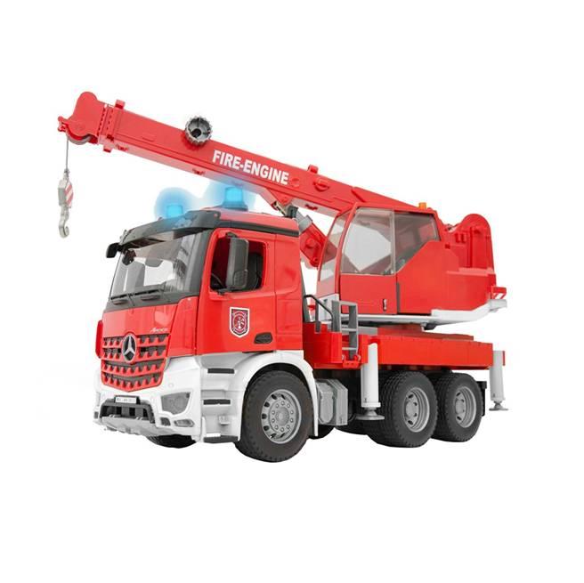 משאית מנוף + סירנה – BRUDER