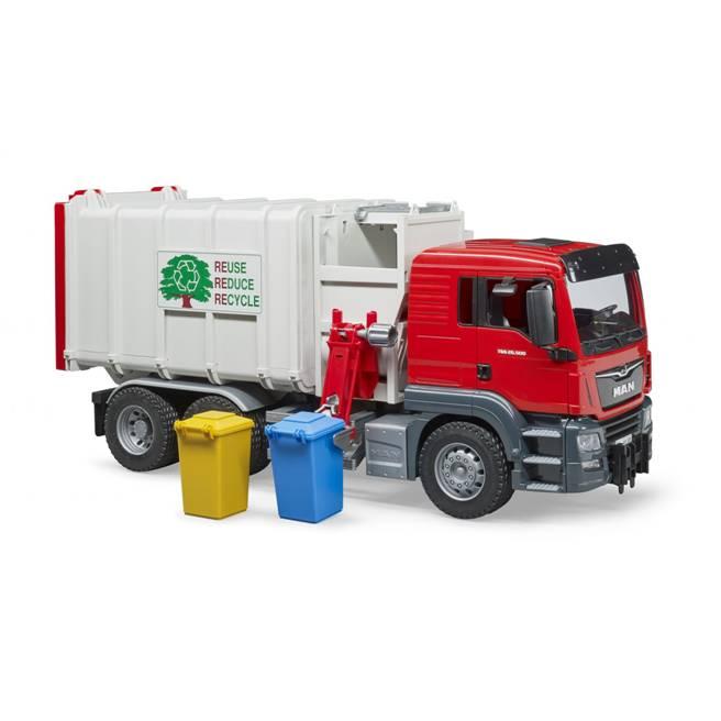 משאית זבל אדומה העמסה – BRUDER