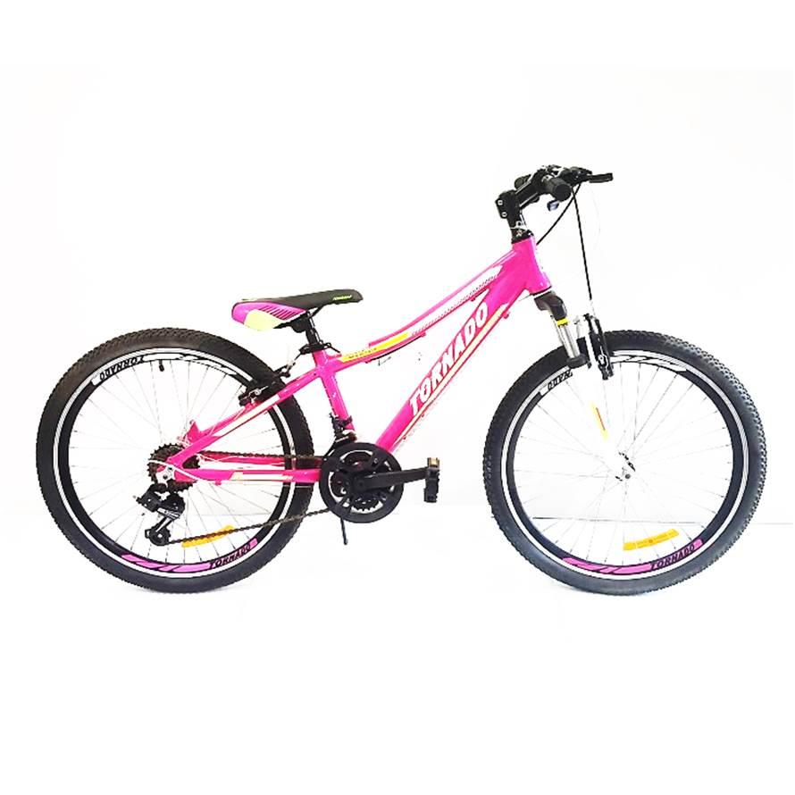 אופני אלומיניום לילדים ונוער – טורנדו הרים M8 ורוד