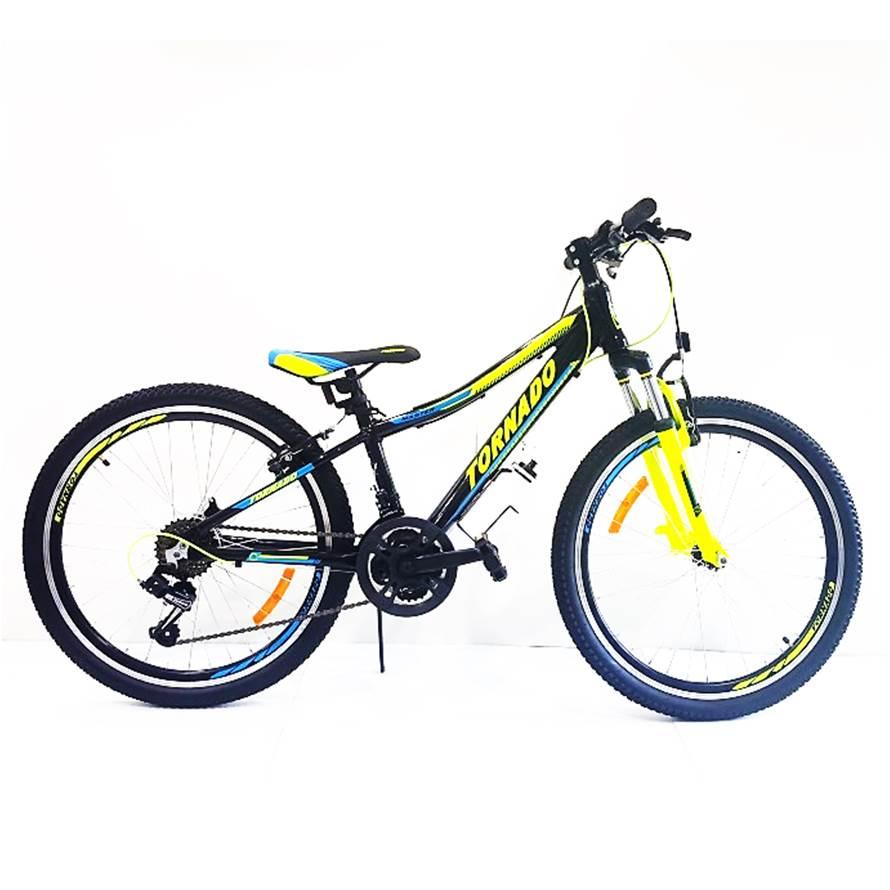 אופני אלומיניום לילדים ונוער – טורנדו הרים M8 שחור