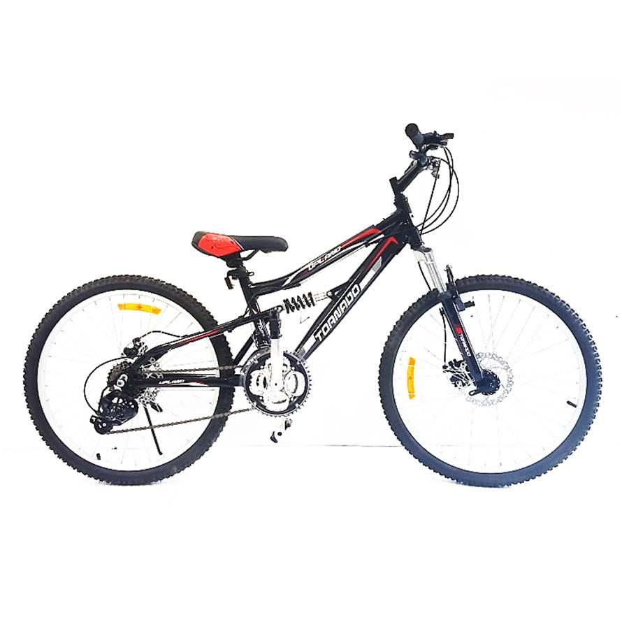 אופני אלומיניום לילדים ונוער – טורנדו M9 שחור