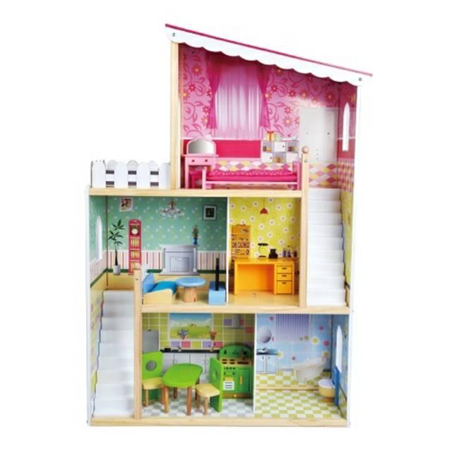 בית בובות מפואר מעץ