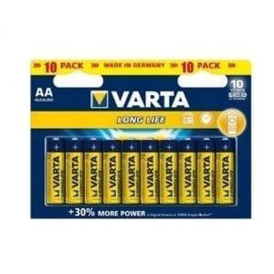 10 סוללות Varta AA Alkaline