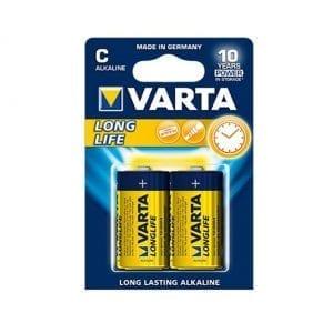 2 סוללות Varta C Alkaline