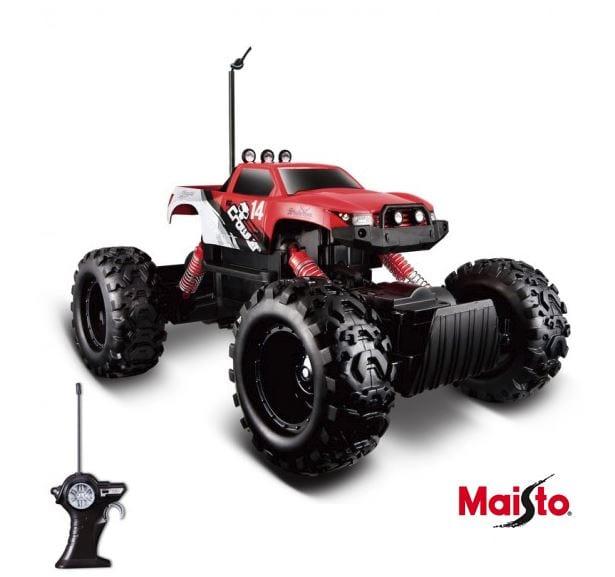 מכונית על שלט מאיסטו אדום Maisto R/C Rock Crawler 4X4