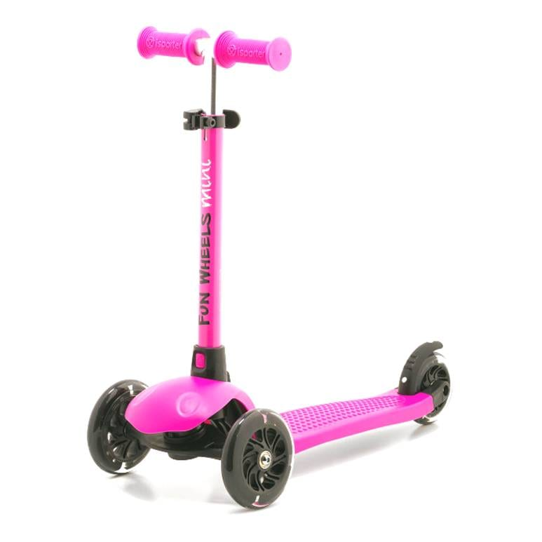 קורקינט ילדים 3 גלגלים מתכוונן מיני FUN-WHEEL ורוד