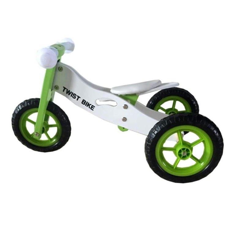 אופני איזון ותלת אופן מעץ  2 ב-1