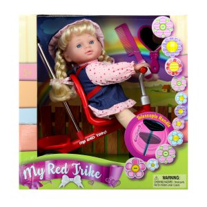בובה רוכבת על תלת אופן