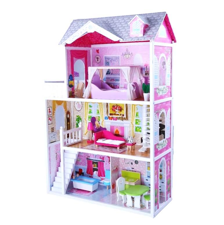 בית בובות מלכותי מעץ לילדים
