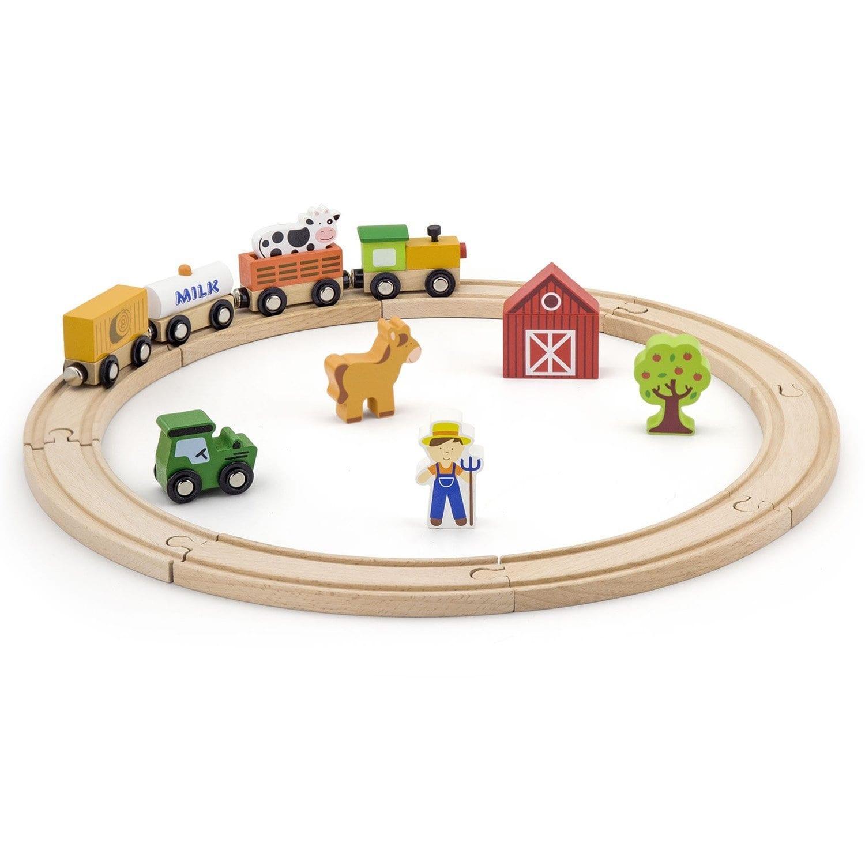 רכבת עץ חווה 19 חלקים – ויגה