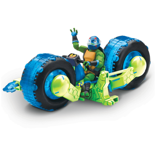 לאונרדו על אופנוע השריון – צבי הנינג'ה