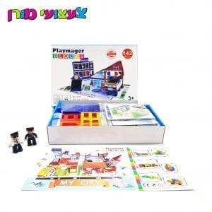 פליימאגר תחנת משטרה 142 חלקים – משחק מגנטים – מקורי!