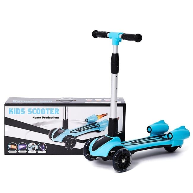 קורקינט ילדים 3 גלגלים סילון עם אורות ועשן מדומה