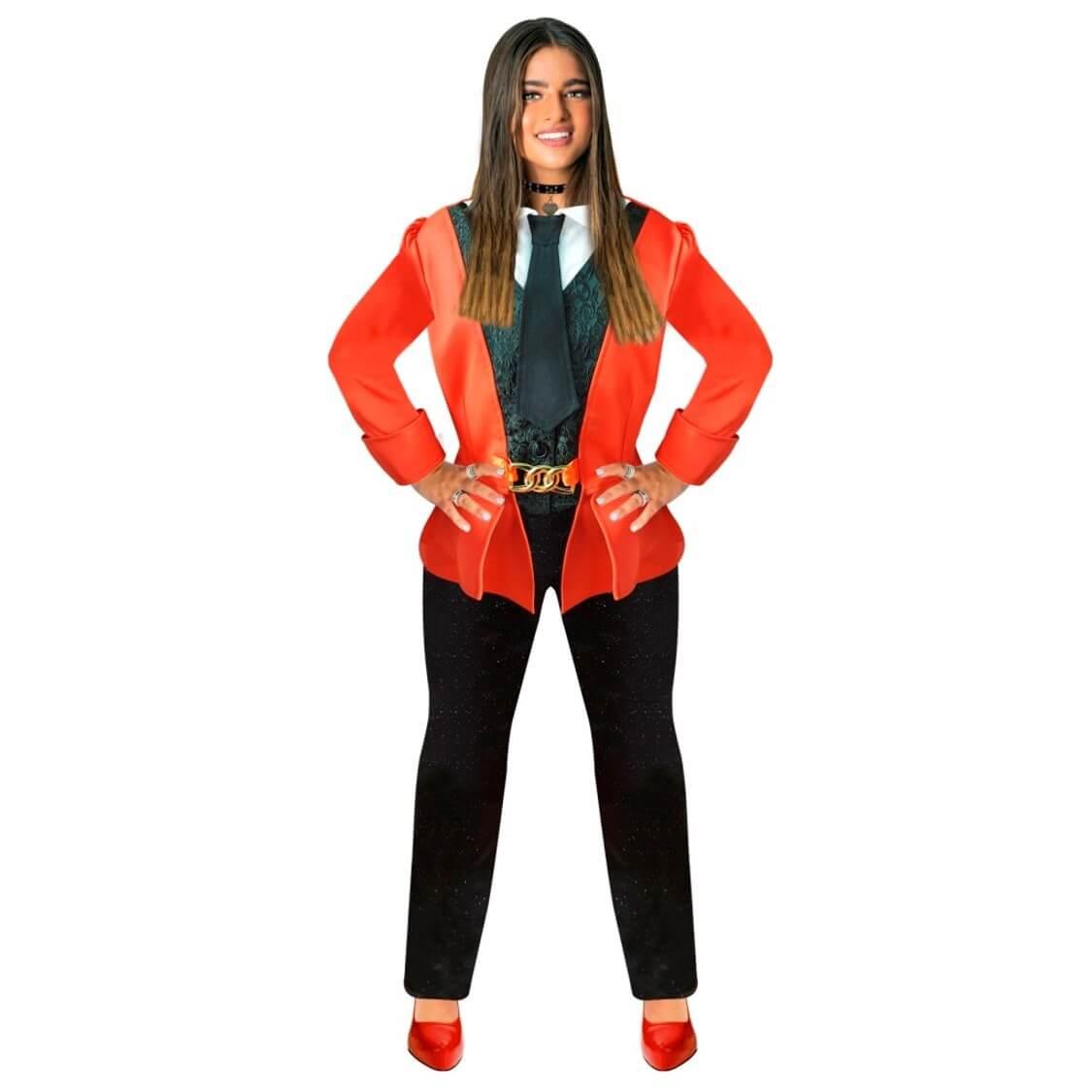 תחפושת נועה קירל פסטיגל  – חליפה אדומה לילדות  – פורים שושי זוהר