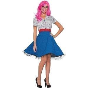 תחפושת פופ-ארט שמלת נשים – פורים רוביס