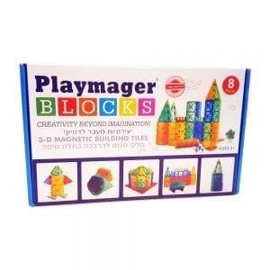 פליימאגר ערכת תוספת 8 חלקים – משחק מגנטים – מקורי!